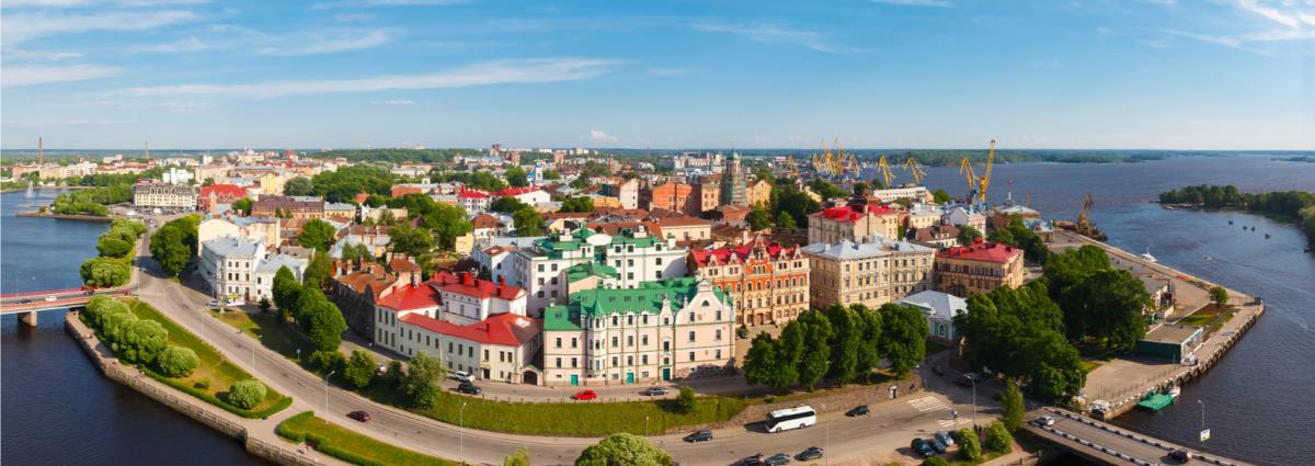 Näkymä Viipurin vanhaan kaupunkiin.