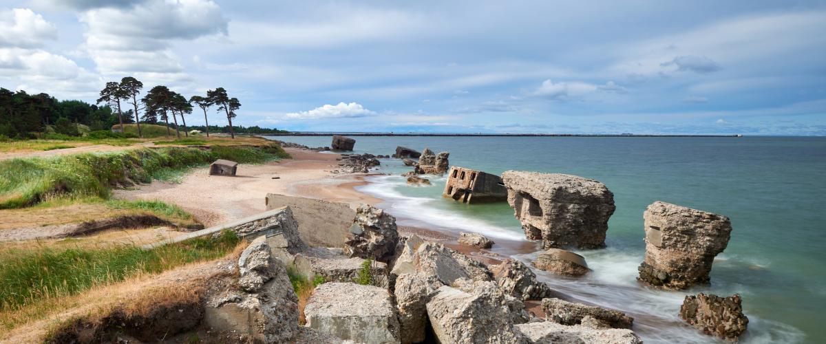 Liepajan rantamaisemaa Latviassa.