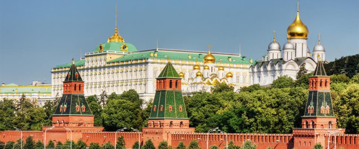 Moskovan mahtava Kreml I Lähialuematkat