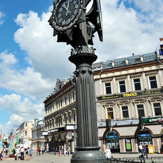 Kävelykatu Bauman street Kazanin sydämessä.